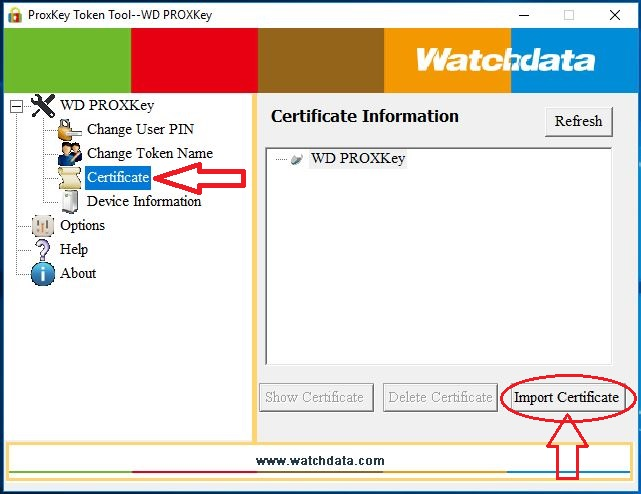 Import Certficate X Or P12 Root Certificate Cer