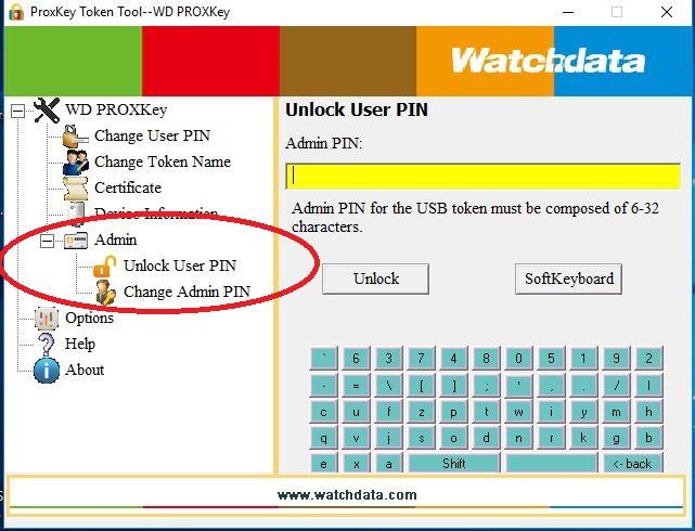 "3d14f5d627 Click on ""Unlock User PIN""   enter the ADMIN PIN on the right hand side and  click on unlock"