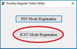Register ProxKey Token – Desktop Utility   Knowledge Base